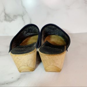 Vintage Shoes - Vintage Skandals Green Leather Clogs 6